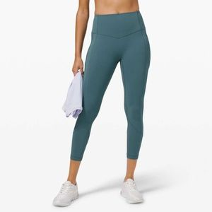 Lululemon All the Right Places Crop Desert Teal- 4